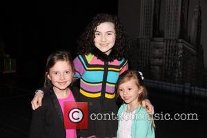 Dave Grohl takes his daughters to the Broadway musical 'Annie' at the Palace Theatre at Palace Theatre - New York...