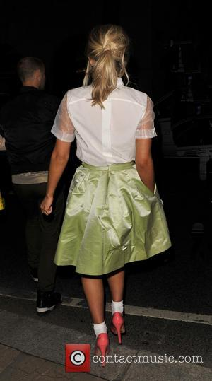 Mollie King - London Fashion Week - Autumn/Winter 2013 - Issa at London Fashion Week - London, United Kingdom -...