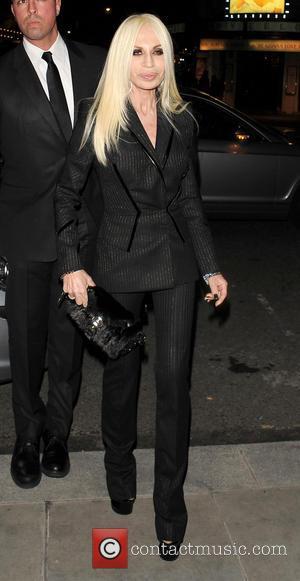 Donatella Versace - Celebrities outside a London hotel - London, United Kingdom - Saturday 16th February 2013
