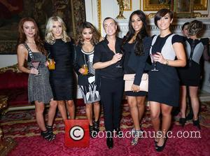 Rochelle Humes, Rochelle Wiseman, Frankie Sandford, Una Healy, Vanessa White, Mollie King, The Saturdays and Julien Mcdonald
