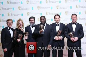 Christophe Waltz, Steve Mcqueen and Brad Pitt