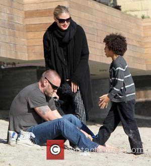 Martin Kristen, Johan Samuel and Heidi Klum