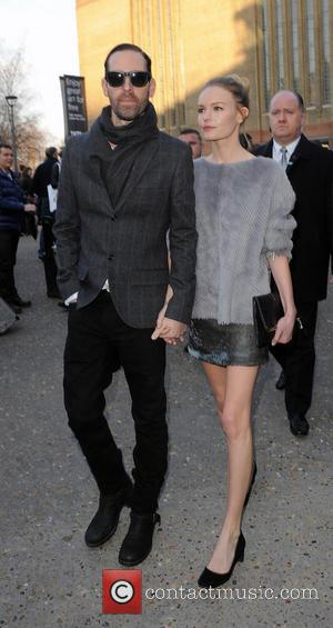 Michael Polish and Kate Bosworth - LFW Topshop Unique Departures at London Fashion Week - London, England, United Kingdom -...