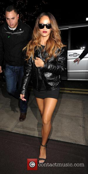 Rihanna arriving back at her hotel - London, United Kingdom