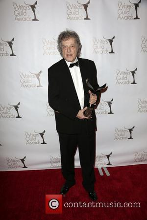 Writer Tom Stoppard poses with The Laurel Award for Screen Writing Achievement - Writers Guild Awards (WGA) at Writers Guild...