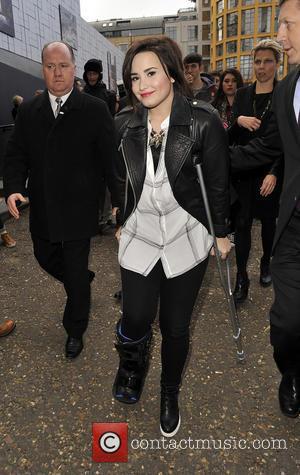 Demi Lovato - LFW - Topshop Unique - Departures at London Fashion Week - London, United Kingdom - Sunday 17th...