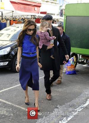 Victoria Beckham, David Beckham and Harper Beckham