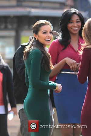 Miss USA Nana Meriwether and Miss Universe 2012 Olivia Culpo - Celebrities at The Grove to appear on entertainment news...