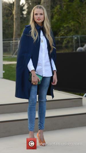 Gabriella Wilde - London Fashion Week - Autumn/Winter 2013 - Burberry Prorsum - Arrivals at London Fashion Week - London,...