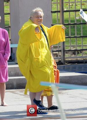 Louie Anderson - The celebrity contestants for the upcoming ABC show 'Splash' film a promo at the Aquatic center. -...