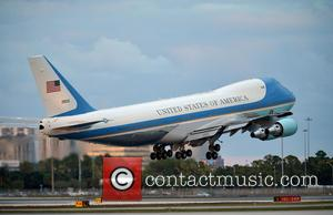 Air force takes off at 5:52 pm at Palm Beach International Airport - President Barack Obama departs from Palm Beach...