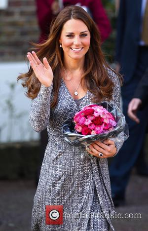 Duchess Of Cambridge Kate Middleton Catches The Bus To Swiss Wedding