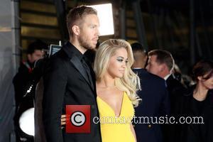 Calvin Harris and Rita Ora - The Brit Awards (Brit's) 2014 held at the O2 - Arrivals - London, United...