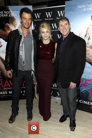 Josh Duhamel, Julianne Hough and Nicholas Sparks