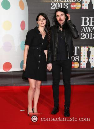 Lana Del Rey and boyfriend Barrie-James O'Neill - The 2013 Brit Awards at Brit Awards - London, United Kingdom -...