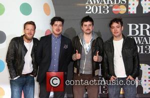 Ted Dwane, Marcus Mumford, Winston-Marshall and Ben Lovett of Mumford & Sons