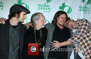 Jacob Micah Nelson, Willie Nelson, Lukas Nelson and Johnny Knoxville