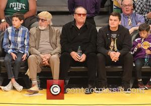 Jack Nicholson, Raymond Nicholson and Lou Adler - Celebrities at the Lakers game at Staples Center - Los Angeles, California,...