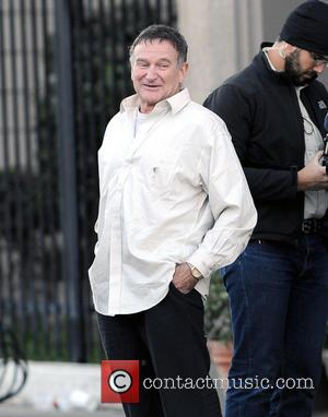 Robin Williams - The Angriest Man in Brooklyn Filmset