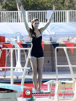 Katherine Webb and 2012 Miss Alabama - 2012 Miss Alabama Katherine Webb practices her diving form for the upcoming ABC...