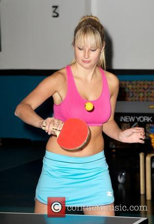 Genevieve Morton - 2013 Sports Illustrated Swimsuit Models ping pong match - New York City, United States - Thursday 21st...