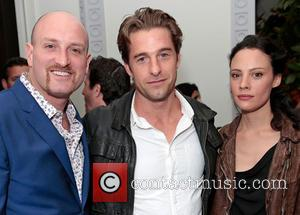 Michael Sucsy, Scott Speedman and Camille De Pazzis - Michael Sucsy birthday party - Los Angeles, California, United States -...