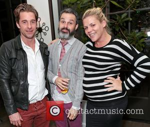 Scott Speedman, Marc Silverstein and Busy Philipps - Michael Sucsy birthday party - Los Angeles, California, United States - Thursday...