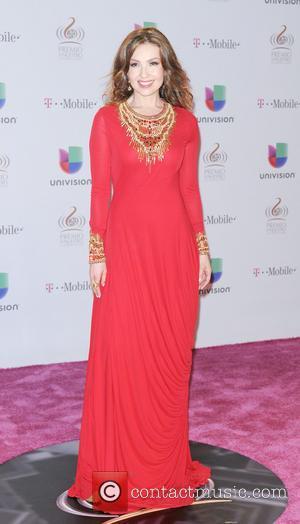 Thalia - 25th Anniversary Of Univision's 'Premio Lo Nuestro A La Musica Latina' at American Airline Arena - MIAMI, Florida,...