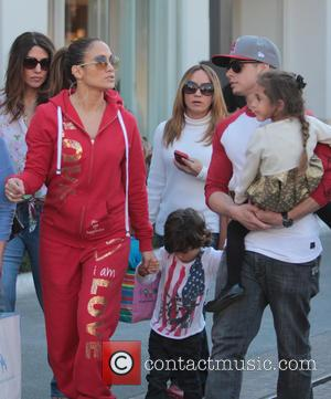 Jennifer Lopez, Casper Smart, Max Anthony and Emme Anthony