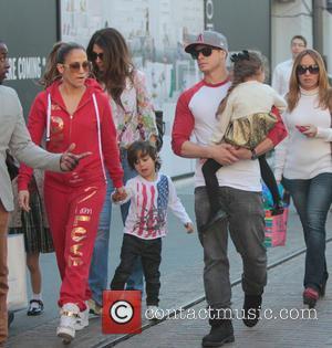 Jennifer Lopez, Maximilian Anthony, Emme Anthony and Casper Smart