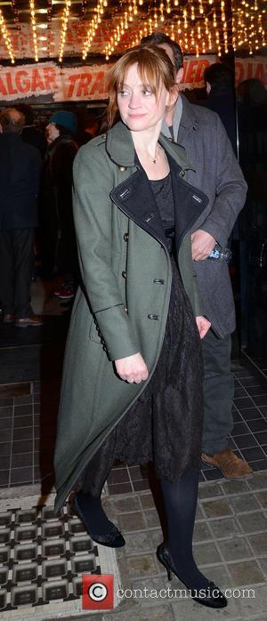 Anne-Marie Duff - Opening night of 'Macbeth' held at the Trafalgar Studios - Departures - London, United Kingdom - Friday...