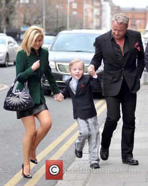 Niamh O'Brien, Michael Flatley Jr. and Michael Flatley - Irish-American dancer Michael Flatley leaving a government building after meeting Taoiseach...