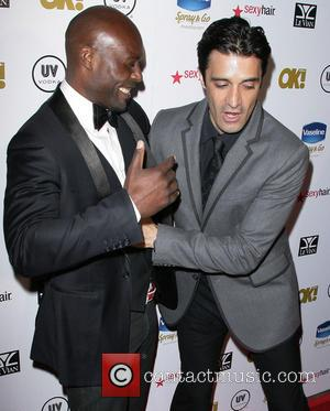Jimmy Jean-Louis and Gilles Marini - OK! Magazine's Annual Pre-Oscar Party held at the Emerson Theatre at Emerson Theatre -...