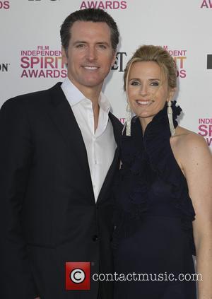 Gavin Newsom and Jennifer Siebel