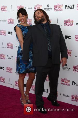 Tanya Haden and Jack Black - 2013 Film Independent Spirit Awards at Santa Monica Beach - Arrivals - Santa Monica,...