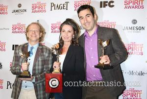 Producers Bruce Cohen, Donna Gigliotti and Jonathan Gordon Pose With The Best Feature Award For 'silver Linings Playbook'