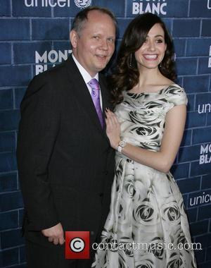 President, Ceo Of Montblanc North America Jan-patrick Schmitz and Emmy Rossum