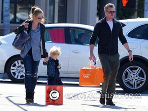 Eric Dane, Rebecca Gayheart and Billie Dane - Eric Dane out with his family - Los Angeles, California, United States...