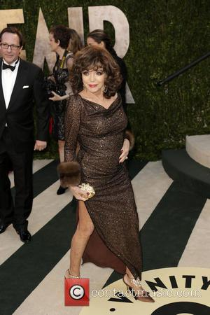 Joan Collins - 2013 Vanity Fair Oscar Party at Sunset Tower - West Hollywood, California, United States - Saturday 23rd...