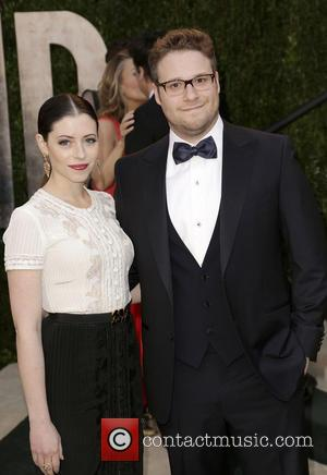 Lauren Miller and Seth Rogen - 2013 Vanity Fair Oscar Party at Sunset Tower - West Hollywood, California, United States...