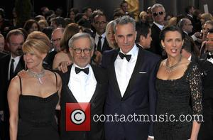 Kate Capshaw, Steven Spielberg, Daniel Day-lewis and Rebecca Miller
