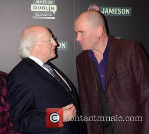 Michael D Higgins and Gavin Friday