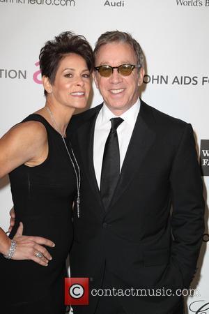 Tim Allen and Jane Hajduk - Annual Elton John AIDS Foundation's Oscar Party - Los Angeles, California, United States -...