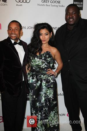 Hill Harper, Chloe Flower and Quinton Aaron - 21st Annual Elton John AIDS Foundation's Oscar Viewing Party - Los Angeles,...