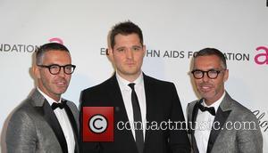 Michael Buble, Dean Caten and Dan Caten