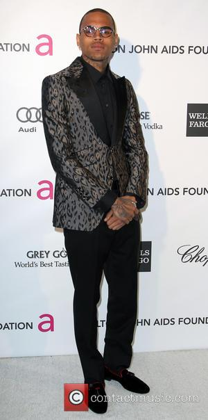 Chris Brown - Elton John Oscar Party - Los Angeles, California, United States