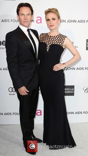 Anna Pacquin and Stephen Moyer - 21st Annual Elton John AIDS Foundation's Oscar Viewing Party - Los Angeles, California, United...