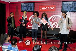 Mindless Behavior and Demi Lobo - Boy band 'Mindless Behavior' are interviewed by WGCI on-air personality Demi Lobo at WGCI...