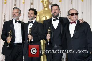 Grant Heslov, Ben Affleck, George Clooney and Jack Nicholson