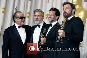 Jack Nicholson, George Clooney, Grant Heslov and Ben Affleck - 85th Annual Oscars at Oscars - Los Angeles, California, United...